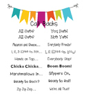 Call Backs and Attention Getters Poster