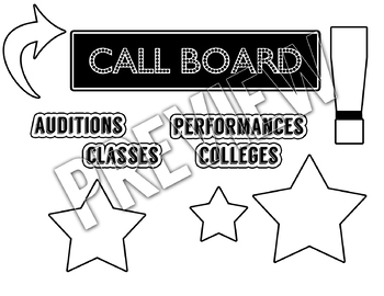 Call Board Bulletin Board Assets (Color and Black & White)