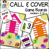 Call & Cover Beach House Game Boards ● Number Recognition