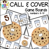 Number Games to 10 ● Call & Cover Cookie Game Boards ● Math Games