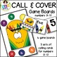 Call & Cover Crayon Game Boards ● Number Recognition ● Numbers 0-10