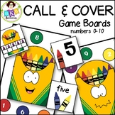 Number Games to 10 ● Call & Cover Crayon Game Boards ● Math Games