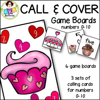 Call & Cover Cupcake Game Boards ● Number Recognition ● Numbers 0-10