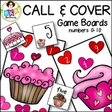 Number Games to 10 ● Call & Cover Cupcake Game Boards ● Math Games