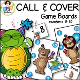 Call & Cover Game Boards ● Number Recognition ● Numbers 0-
