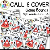 Sight Word Games ● Call and Cover Sight Word Game Boards ●