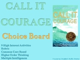 Call It Courage Choice Board Novel Study Activities Menu Book Project Rubric