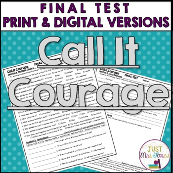 Call It Courage Final Test