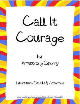 Call It Courage: Literature Study with TESTS, projects, activities, and more