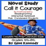 Call It Courage Novel Study & Project Menu; Plus Digital Option