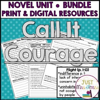 Call It Courage Novel Unit