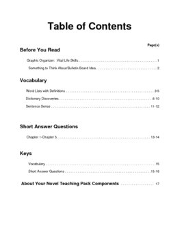 Call It Courage    Prereading/Vocabulary/Short Answer Questions
