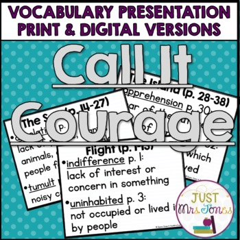Call It Courage Vocabulary Presentation
