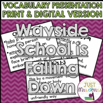 Wayside School Is Falling Down Vocabulary Presentation
