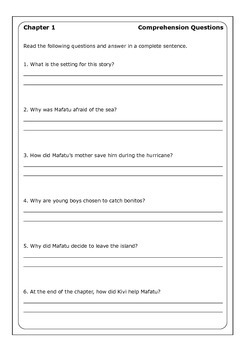 """Armstrong Sperry """"Call It Courage"""" worksheets"""