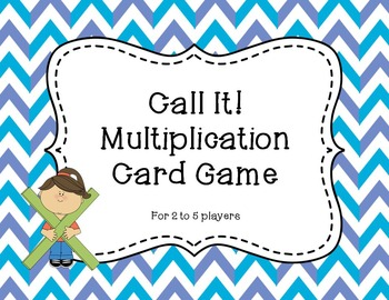 Call It!  Multiplication Card Game