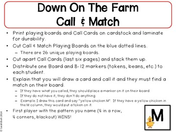 Call & Match - Farm {like Bingo(R)}