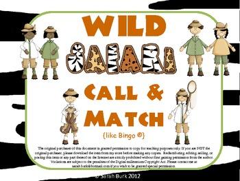 Call & Match - Safari {like Bingo(R)}