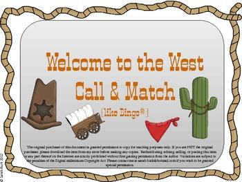 Call & Match -Wild West {like Bingo(R)}