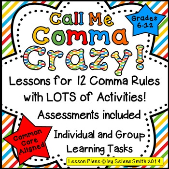 Comma Rules For Middle School And High School By Selena Smith Tpt