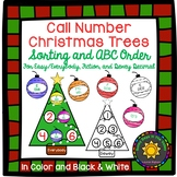 Call Number Christmas Trees: Sorting, ABC Order, and Cut & Paste