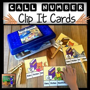 Call Number Clip-It Task Cards