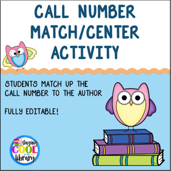 Call Number Match/Center Activity