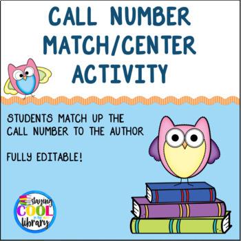 Call Number Match/Center Activity