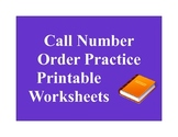 Call Number Order Practice Printable Worksheets Library Skills