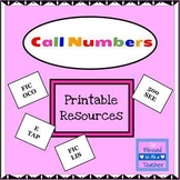 Call Number Library Skills Printable Resources