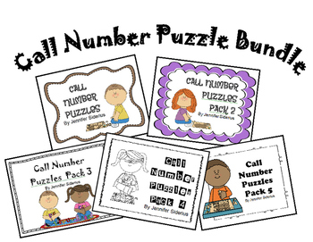 Call Number Puzzle Bundle