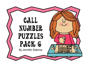 Call Number Puzzles for Library Centers Pack 6