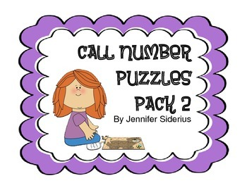 Call Number Puzzles for Library Centers Pack 2