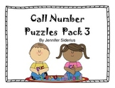 Call Number Puzzles for Library Centers Pack 3