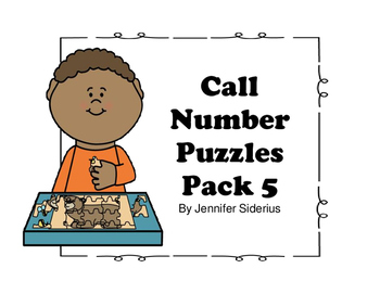 Call Number Puzzles for Library Centers Pack 5