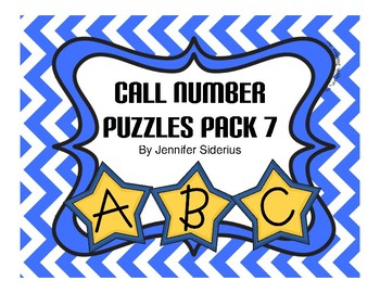 Call Number Puzzles for Library Centers Pack 7