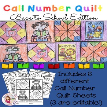 Call Number Quilt Back to School Edition