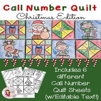 Call Number Quilt Christmas Edition