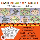 Call Number Quilt Halloween Edition