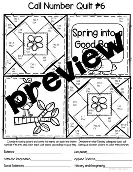 Call Number Quilt Spring Edition