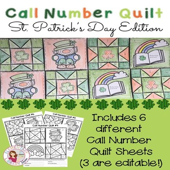 Call Number Quilt St. Patrick's Day Edition