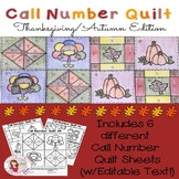 Call Number Quilt Thanksgiving/Autumn Edition