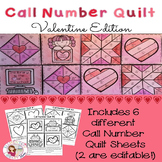 Call Number Quilt Valentine Edition