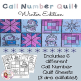 Call Number Quilt Winter Edition