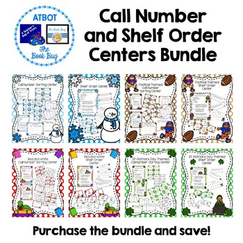 Call Number and Shelf Order Centers Bundle
