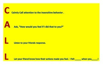 Call Out Card
