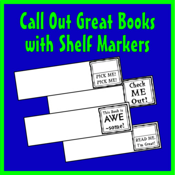 Call Out Great Books - Shelf Markers for Classroom Librari