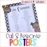 Call & Response Poster Set - Editable!