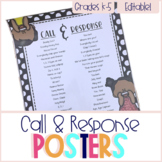 Call & Response Poster Set - Editable!