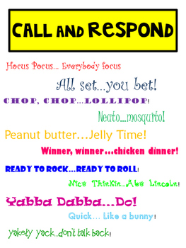 Call and Respond Anchor Chart